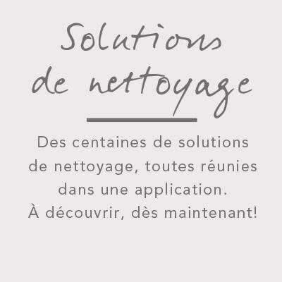 Solutions de nettoyage